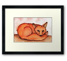 Fox in Watercolor Framed Print