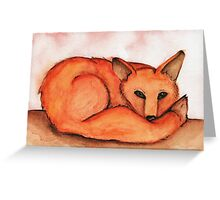 Fox in Watercolor Greeting Card