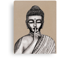 Shh ... do not disturb - Buddha - New Canvas Print
