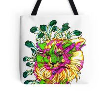 Stained Glass House Cat Trip Tote Bag
