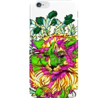 Stained Glass House Cat Trip iPhone Case/Skin