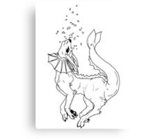 Piscean Pocket Monster Canvas Print