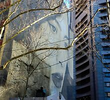 Street art at its finest in Collins Street, Melbourne by visualimagery