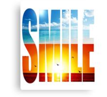 Smile Canvas Print