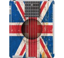 Old Acoustic Guitar with British Flag iPad Case/Skin