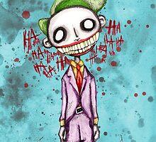 Evil Laughing Clown by LVBART