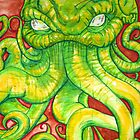 Cthulhu Painting on Wood by Ashley Peppenger