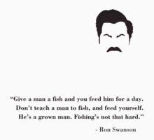 Don't teach a man to fish! Kids Clothes