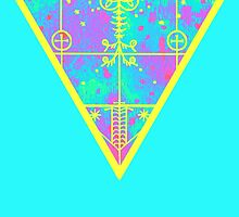 inverted cold neon triangle by Ashley Peppenger