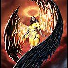 Robot Angel Painting 001 by Ian Sokoliwski