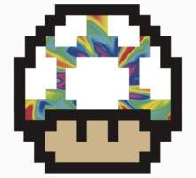 Trippy 8-Bit Mushroom Kids Clothes