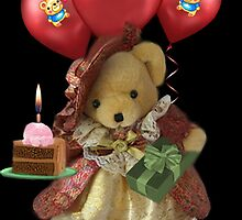 ㋡ HAPPY BIRTHDAY TEDDY BEAR BEARING GIFTS CARD/PICTURE  ㋡ by ✿✿ Bonita ✿✿ ђєℓℓσ