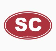 South Carolina SC Euro Oval RED by USAswagg2