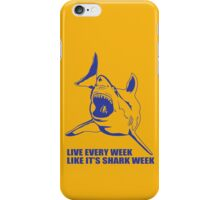 LIVE EVERY WEEK LIKE SHARK WEEK FUNNY SUPER SOFT TSHIRT 30 ROCK TEE EARTH NBC iPhone Case/Skin