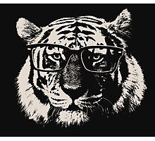 Hipster Tiger With Glasses Photographic Print