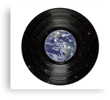 Earth In Space Vinyl LP Record Canvas Print