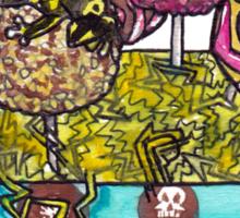 cake pop frog box (color) Sticker