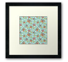 Fun spattern with butterflies,sun, clouds in Doodles Framed Print