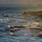 Late Sun over Restless Sea. by Bette Devine