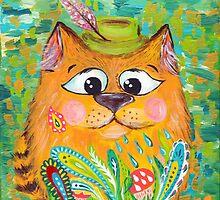 Orange cat by kisikoida