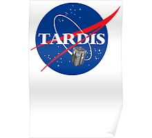 Tardis NASA T Shirt Parody Dr Dalek Who Doctor Space Time BBC Tenth Police Box Poster