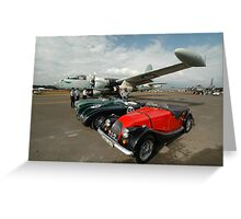 3 Classic Cars & 2 Neptunes, Albion Park Greeting Card