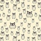 Haunted owls pattern by Xinnie