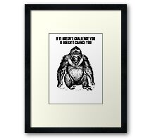 Ape sitting Framed Print