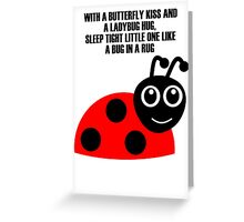 cartoon ladybug Greeting Card