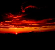 Sunset and stormy clouds by Tino161