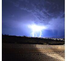 Lightning Over Sandy Valley, Nevada Photographic Print