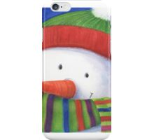 Cute Christmas Snowman with scarf iPhone Case/Skin