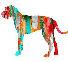 Great Dane 3 by Watercolorsart