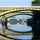 Yellow Bridge .... Kew Thames  by MarcW