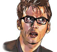 David Tennant - Sketchy Portrait 1 by sugarpoultry