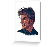 David Tennant - Sketchy Portrait 3 Greeting Card