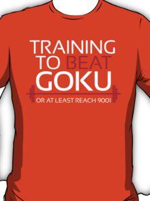 Training to beat Goku - 9001 - White T-Shirt