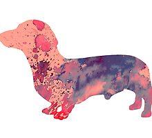 Dachshund 3 by Watercolorsart