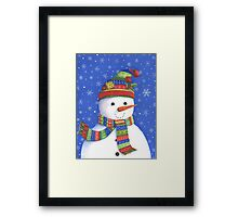Cute highly detailed snowman Framed Print