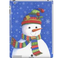 Cute highly detailed snowman iPad Case/Skin