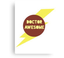 Dr Awesome Canvas Print