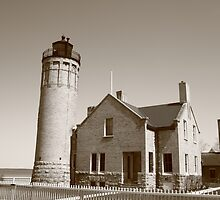 Lighthouse - Mackinac Point, Michigan by Frank Romeo