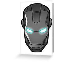 Iron man, grey-scale Greeting Card