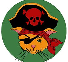 The Dread Pirate Kitty by redqueenself
