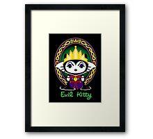 Evil Kitty Framed Print