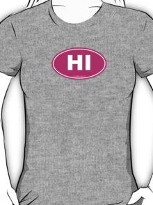 Hawaii HI Euro Oval PINK T-Shirt