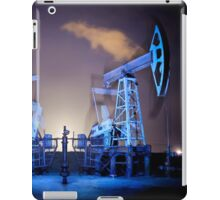 Oil Rigs at night. iPad Case/Skin