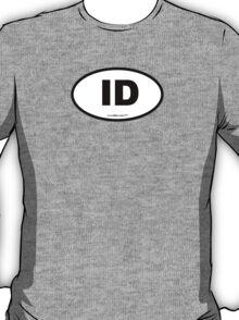 Idaho ID Euro Oval T-Shirt