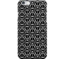 HARRY POTTER - Deathly Hallows (on black) iPhone Case/Skin