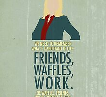 Friends, Waffles, Work. by afieldofstone